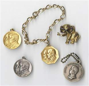 A Lovely Set of 5 Kennedy Medallions