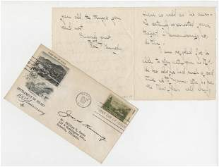 Rose Joseph Kennedy Signed Letter and FDC