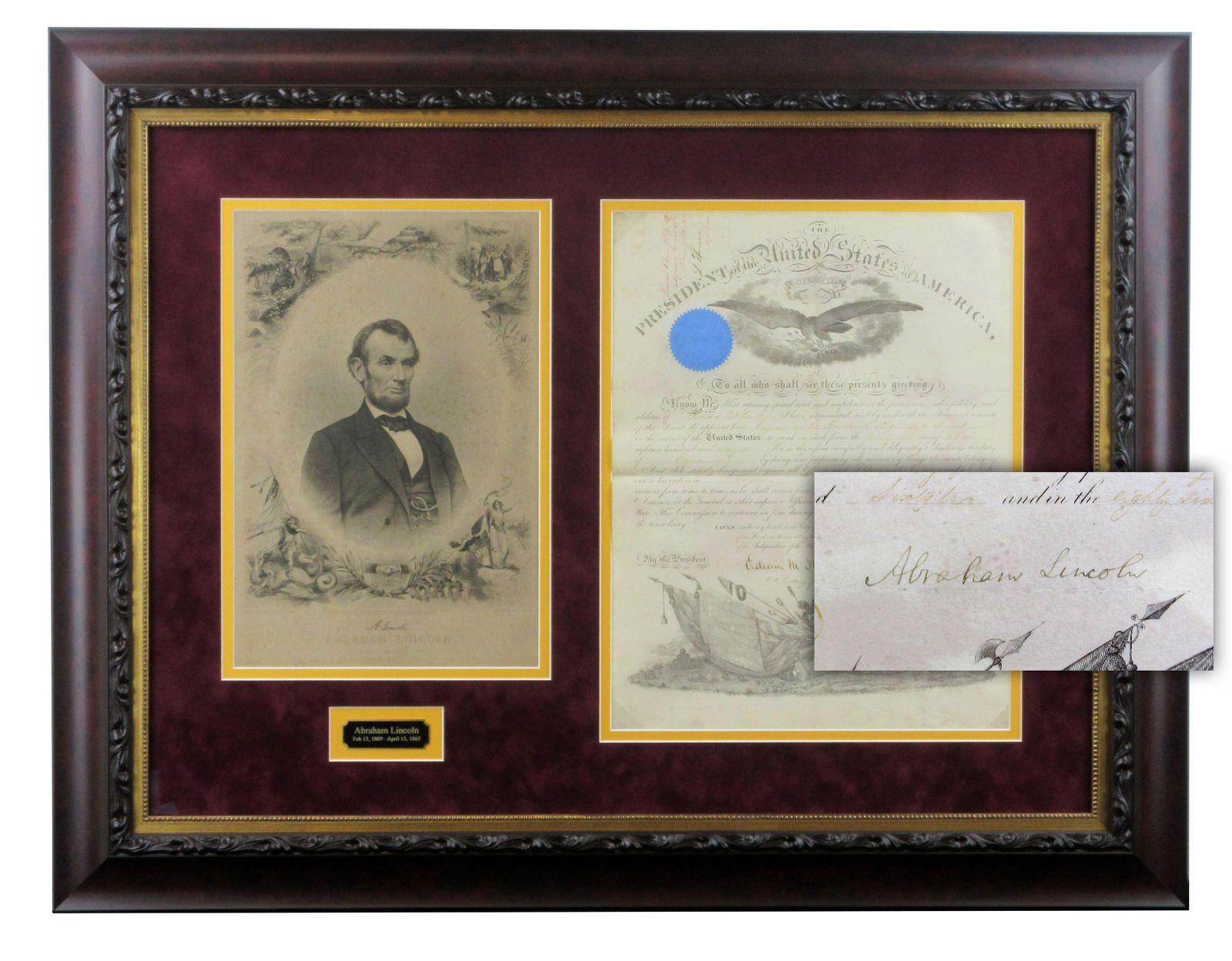 Abraham Lincoln Signed Civil War-Dated Appointment
