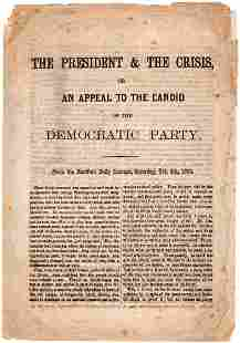Campaign Document Contrasts Lincolns Prudence with