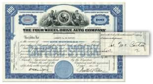 Senator Joseph McCarthy Signs Four Wheel Drive Auto