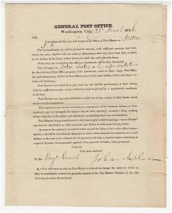 John McLean Postmaster General Signed Broadside Free