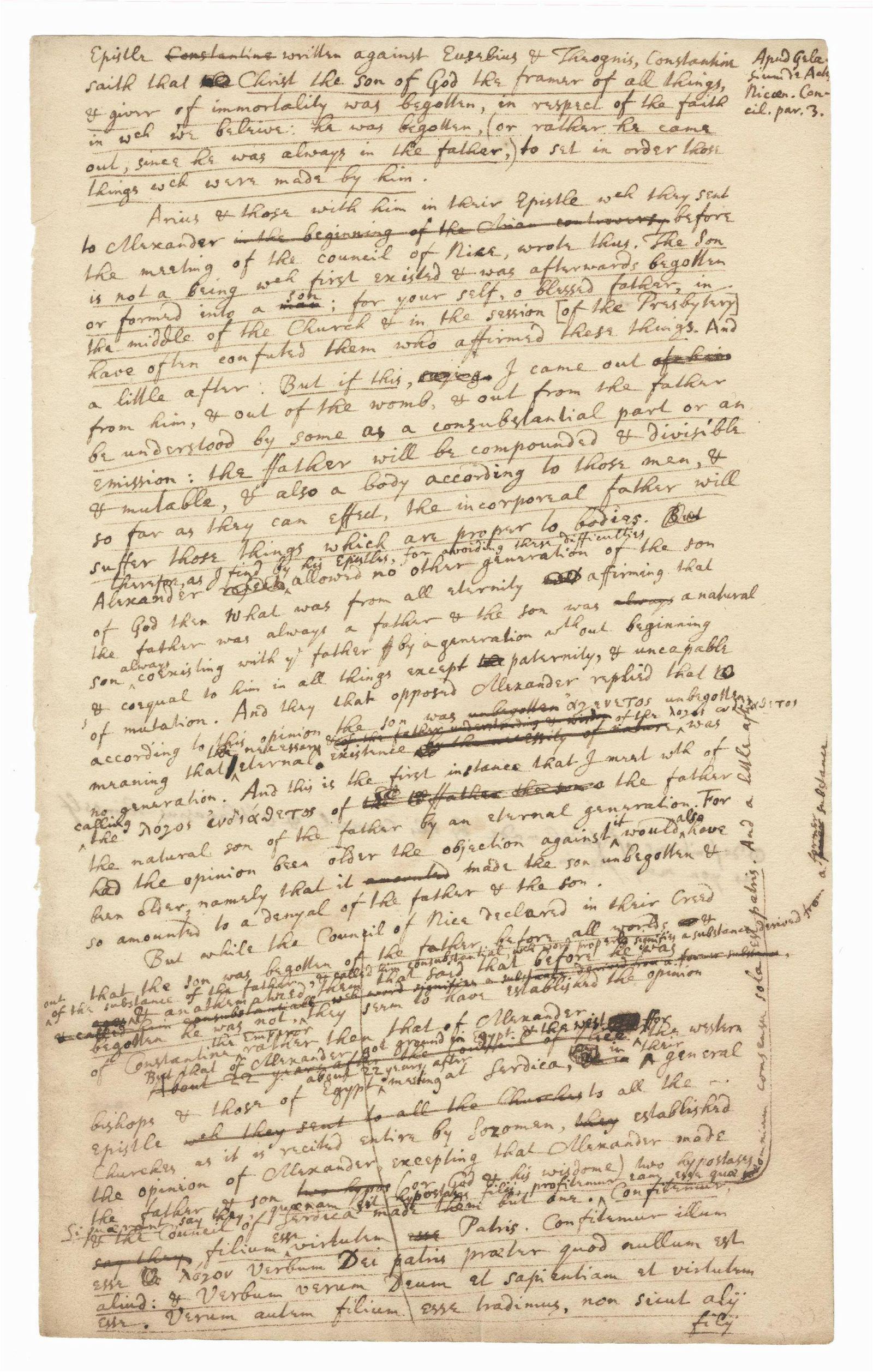 Sir Isaac Newton Superb Important Autograph Manuscript: