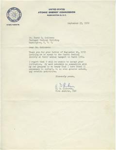 Admiral Rickover Declines Invitation to Speak to Jewish