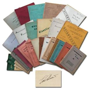 Scientology Archive, More Than 40 Items, Including L.