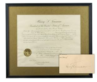 Harry S. Truman Signed Legal Appointment of Fellow