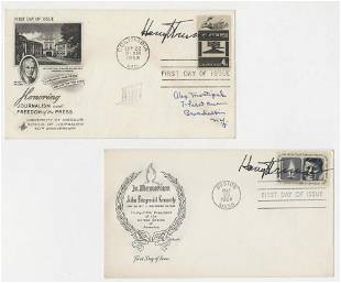 Two Harry Truman Signed First Day Covers