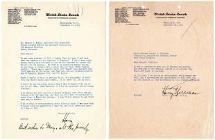 Great Harry S. Truman 6 Items as Senator and