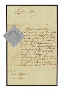Queen Victoria Scarce Signed Pardon