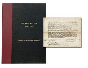 George Walton Superb Signature on Impressively