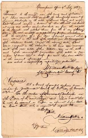George Washington's Cousin's Account against a Virginia