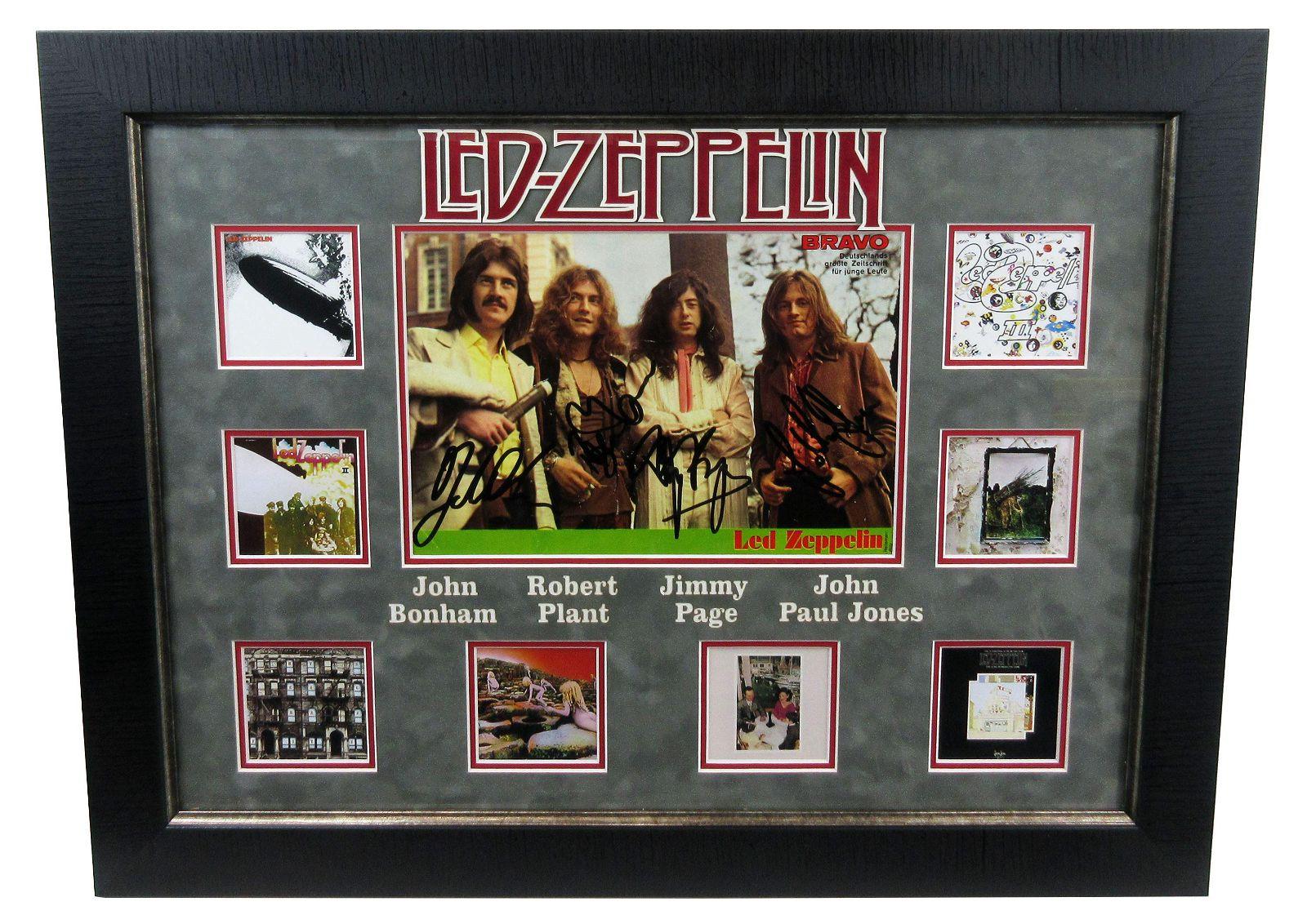 """Led Zeppelin"" Signed German Teen Magazine Spread,"