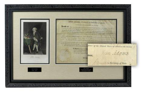 John Adams Signed Commission for George Washington's