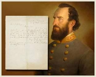 Col Stonewall Jackson Writes his Banker on Money