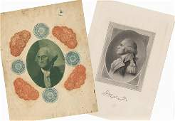 Lovely Set of Engraved Pictures of George Washington