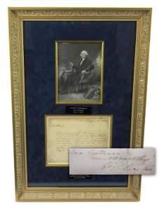 George Washington ALS Written from Mt. Vernon on the
