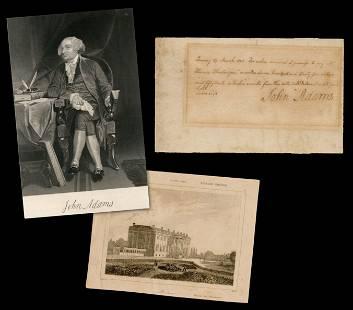 John Adams Boldly Signed Promissory Note Written in the