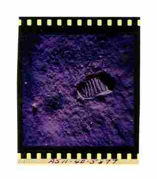 Iconic Apollo XI Color Film Negative of Aldrin's