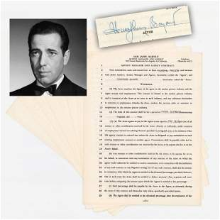 Hollywood Icon Humphrey Bogart Signs Contract During