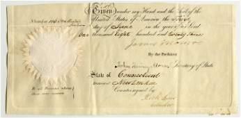 James Monroe & John Quincy Adams Signed Ship's Passport