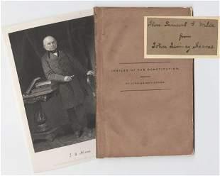 "John Quincy Adams Signed Copy ""Jubilee of the"