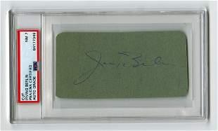 Musical Legend Irving Berlin Signed Card, PSA Slabbed