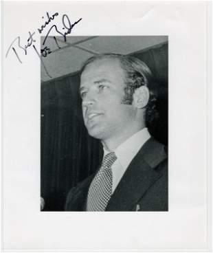 Joseph Biden Signed Photo from 1975