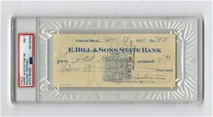 Famed Magician Harry Blackstone Sr. Signed Check for a