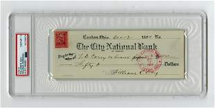 William R. Day Signed Check Prior to Becoming US