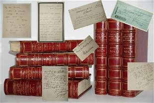 Disraeli 7 Vol. Set Illustrated and Signed by Darwin,