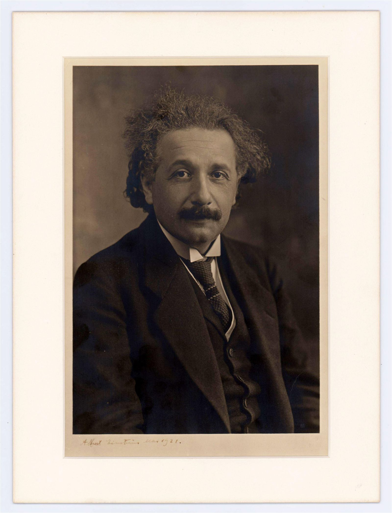 Albert Einstein Exceptional Signed Photo Dating from