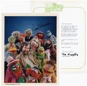 Jim Henson Superb Signed Photograph, Muppet TLS and