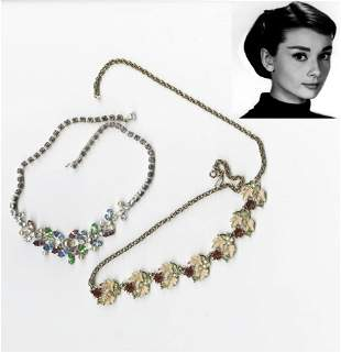 Audrey Hepburn 2 Personally Owned and Used Necklaces