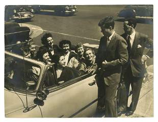 John F. Kennedy Chatting with a Car of Senate Office