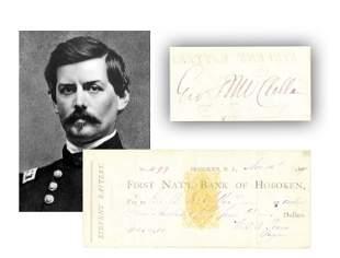 George B. McClellan Endorsed Check