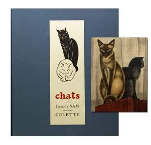 """Jacques Nam """"Chats"""" Signed Limited Edition, """"Time Spent"""