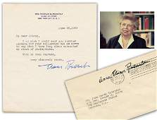 Eleanor Roosevelt TLS Dated 5 Months Before Her Death