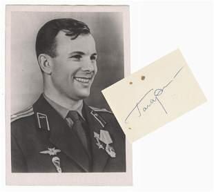 Yuri Gagarin, Soviet Cosmonaut Signed Photograph