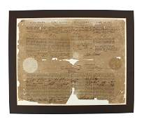 John Adams Four Language Ship's Papers Signed At the