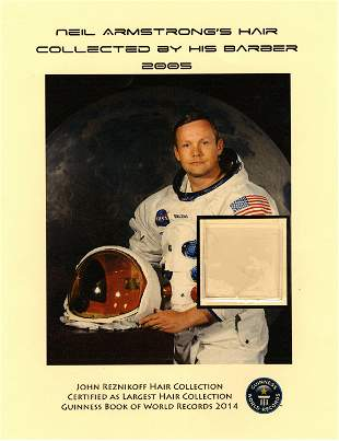 Neil Armstrong, Hair Strands from the First Man on the