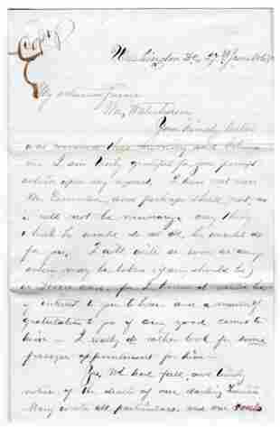 Clara Barton Concerning Prisoner at Andersonville, With