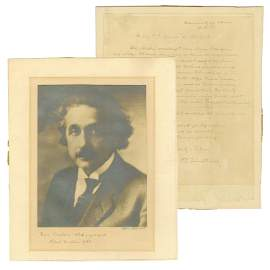 Einstein Signed Photo & ALS Highly Important Scientific