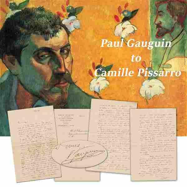 Best Gauguin ALS! To Camille Pissarro, Discussing