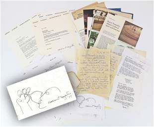 Isamu Noguchi Archive of Letters Regarding Designing a