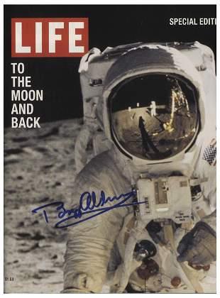 "Buzz Aldrin Signed ""LIFE"" Magazine Commemorative 1999"