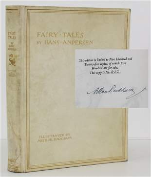 Fairy Tales by Hans Andersen, Rackham Signed Limited