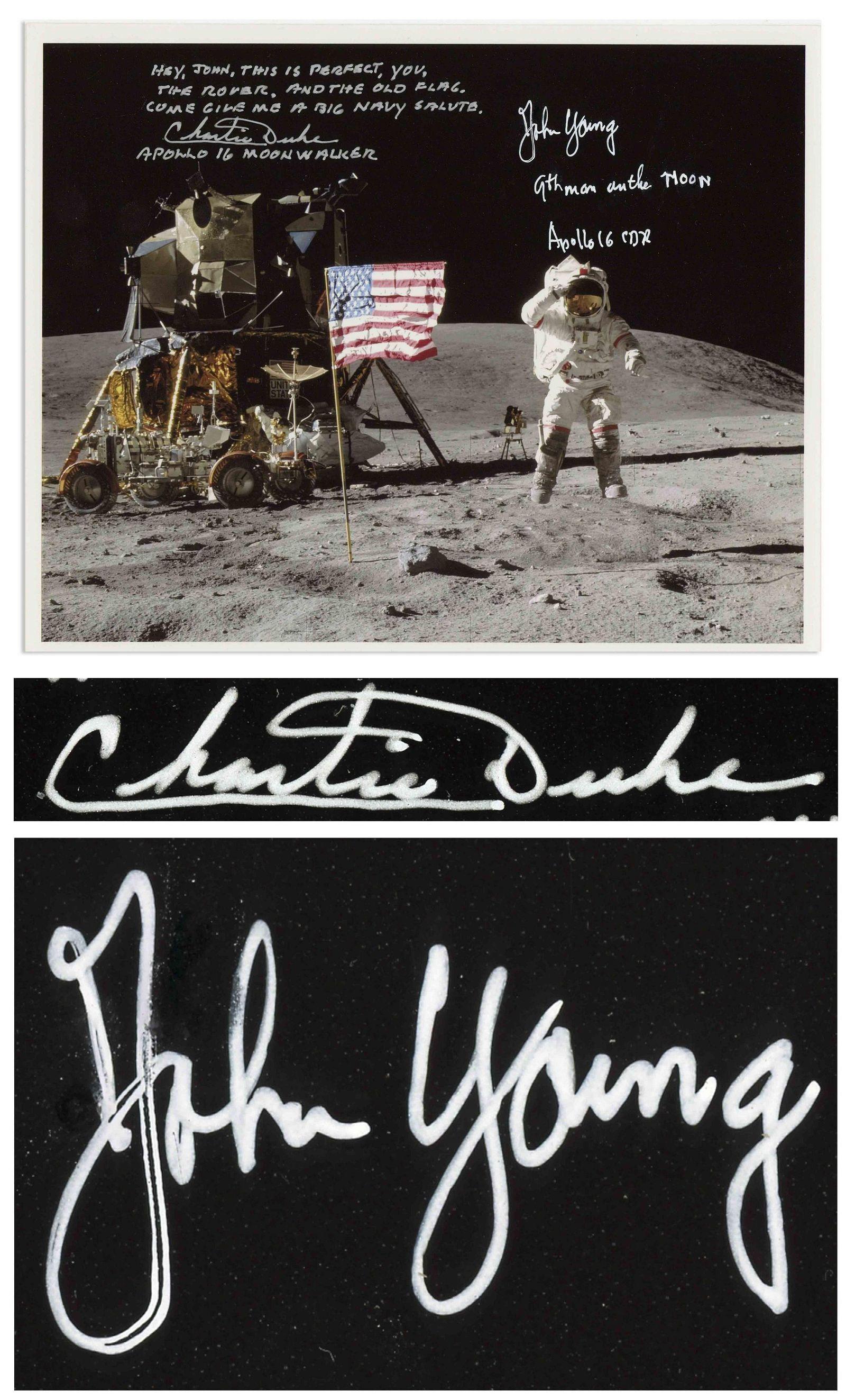 Apollo 16 Moonwalkers John Young and Charlie Duke