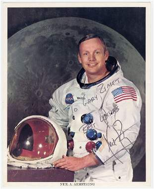 Neil Armstrong Signed NASA Apollo XI Portrait