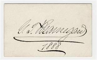 Pierre G.T. Beauregard Bold Signature from 1888