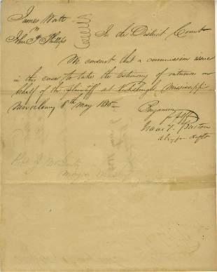 Jewish Confederate Benjamin Signs Legal Document in